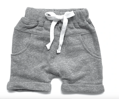 Little Bipsy - Washed Harem Shorts in Grey