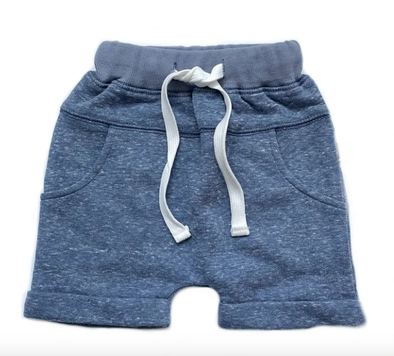 Little Bipsy  Washed Harem shorts in Navy