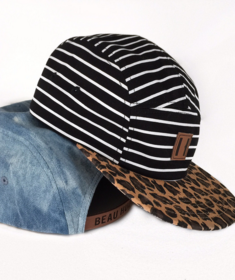 Beau Hudson Black and White Striped Cap