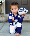 Baby and Little Boys Slim Football Pajamas - Indianapolis Colts Blue #12