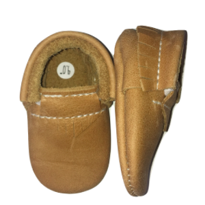 Baby Moccasins - Desert Brown Genuine Leather