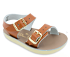 Baby Saltwater Sea Wee buckle sandals Tan