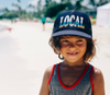 Tiny Whales Kids Local Trucker Hat in Navy