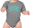 HANDSOME Short-Sleeve Baby Onesie in Heather Grey
