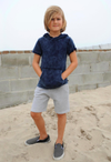 Appaman - Boys Hooded Tee in Indigo