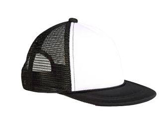 INFANT Mesh Trucker Snapback Hat in Black/White