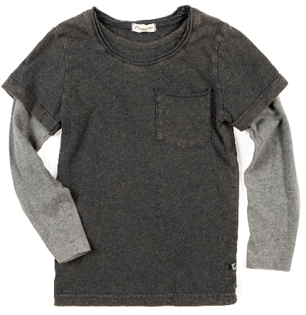 Appaman long sleeve twofer charcoal Chroma