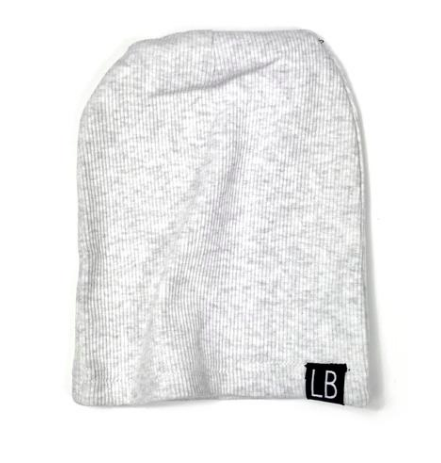 LIttle Bipsy baby beanie heather grey