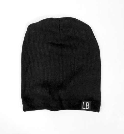 Little Bipsy - Ribbed Baby Beanie in Black