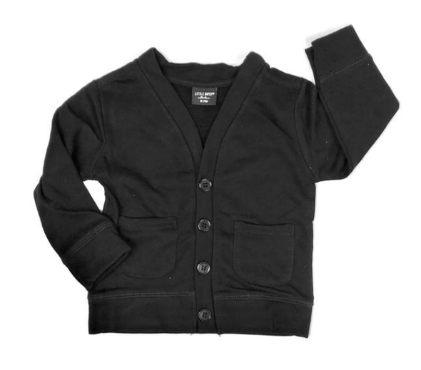 Little Bipsy - Baby Cardigan in Black (Size 3-6mo)
