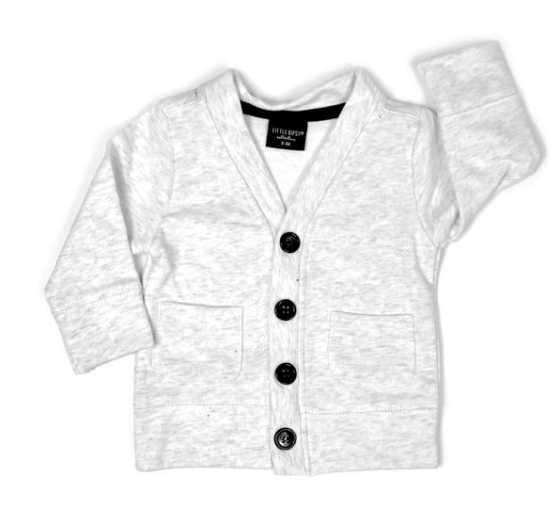 Baby Cardigan light heather grey