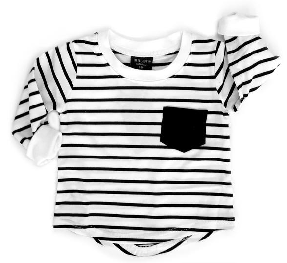 9499991fa1 Little Bipsy - Long-Sleeve Striped Tee in Black and White