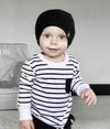 Little Bipsy - Long-Sleeve Striped Tee in Black and White