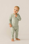 Quincy Mae - Baby's Long Sleeve Tee in Sage