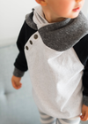 Kids Double Hood hoodie by Ampersand Ave