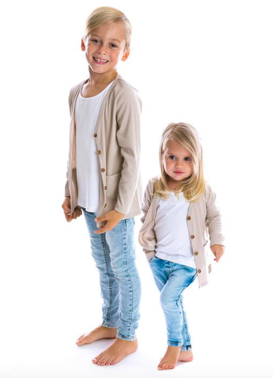 Beau Hudson - Kids Cardigan in Latte