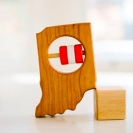 Bannor Toys - Indiana Baby Wooden Rattle
