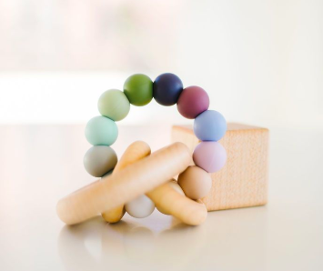 Bannor Toys - Saturn Ring Teether in Pebble
