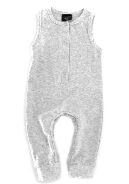 Little Bipsy heather grey tank romper