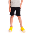Appaman - Boys Frayed Punk Shorts in Black (Size 6)