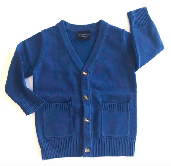 Toddler cardigan blue