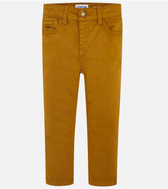 Mayoral boys twill pants in Caramel