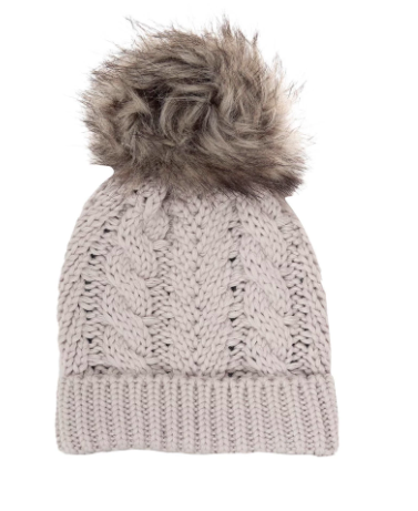 Beau Hudson - Kids Knit Pom Beanie in Grey