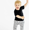 Little Bipsy - Basic Swoop Tee in Black (Size 4-5T)