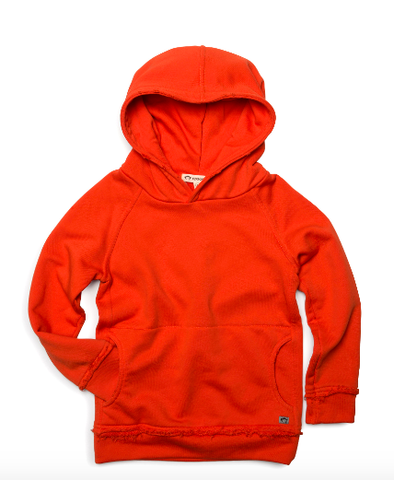 Appaman - Boys High Street Pullover Hoodie in Mandarin Orange (Size 5)