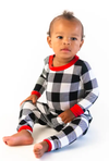 Toddler Buffalo plaid christmas pjs