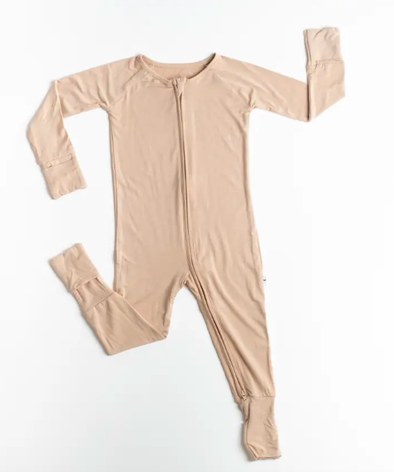 Little Sleepies - Bamboo Viscose Zippy in Camel