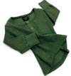 Little Bipsy - Ribbed Henley in Hunter Green (Size 18-24mo)