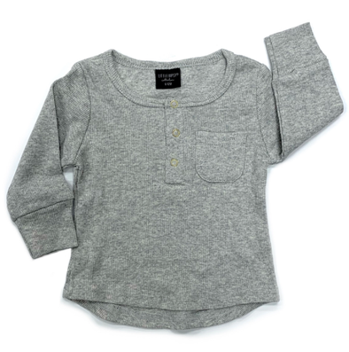 Little Bipsy Ribbed Henley Grey