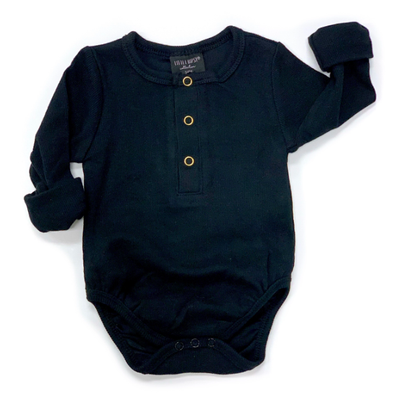 Little Bipsy ribbed henley black