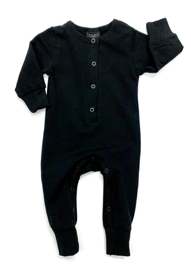 Little Bipsy Classic snap romper black