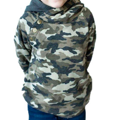Ampersand Ave - Kids' Double Hood(TM) Hoodie in Camo (Size 3)