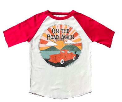 Rowdy Sprout On The Road again kids tee