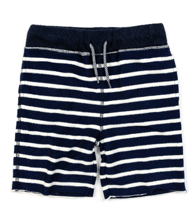 Appaman - Boys Camp Shorts in Navy Stripe French Terry (Size 2T)