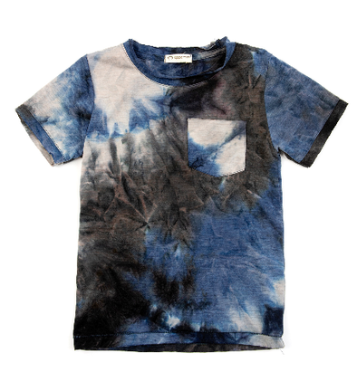 Appaman boys tie dye tee blue black