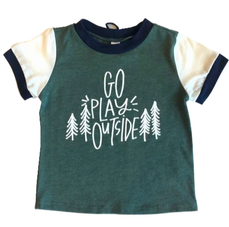 Go play outside toddler tee