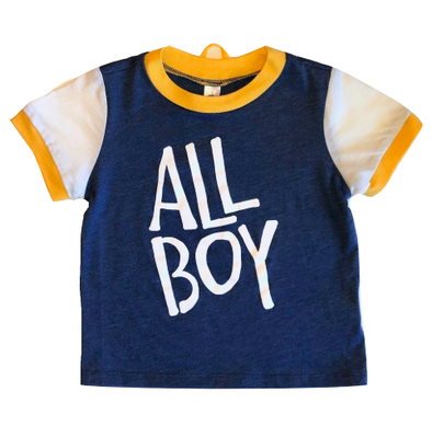 All boy ringer toddler tee