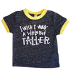 I Wish I was a Little Bit Taller kids tee