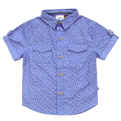 Fore Axel Hudson blue short sleeve button up