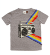 Boys retro boom box tshirt grey
