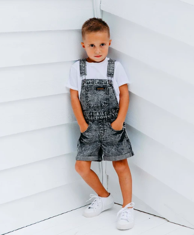 Beau Hudson black denim overalls