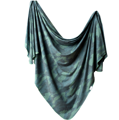 Copper Pearl - Stretch-Knit Swaddle Blanket - Hunter