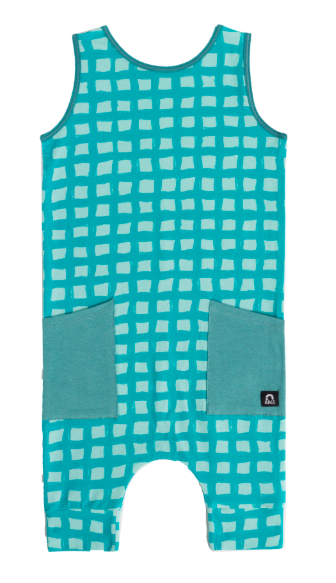 Rags - Tank Capri Hip Pocket Rag in Grid Roller Bristol