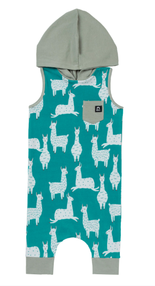 Rags hooded tank capri rag with llamas