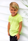 Beau Hudson - Kids Neon Tee - Electric Yellow