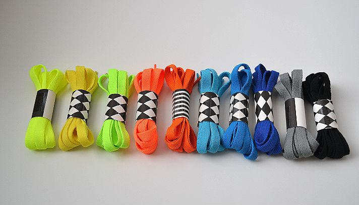 Children's colored shoe laces
